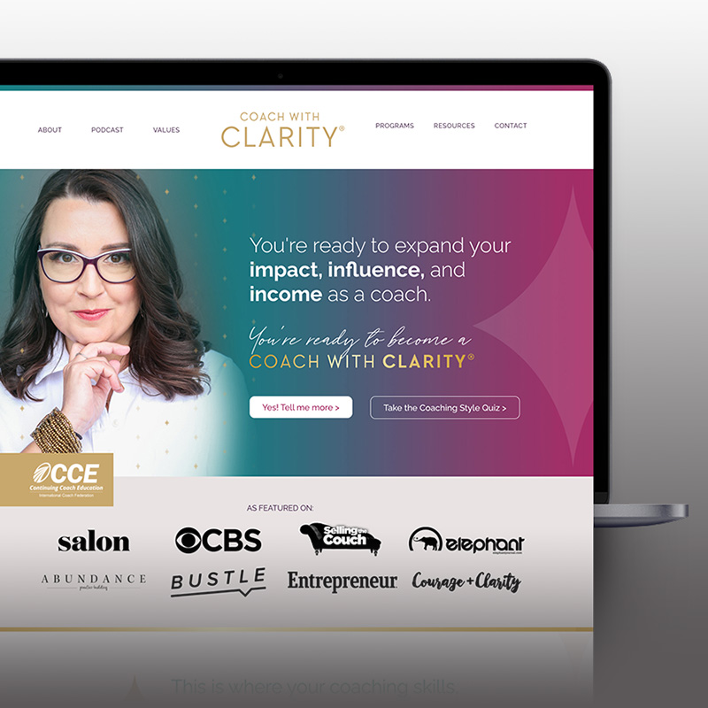 Coach with Clarity Website