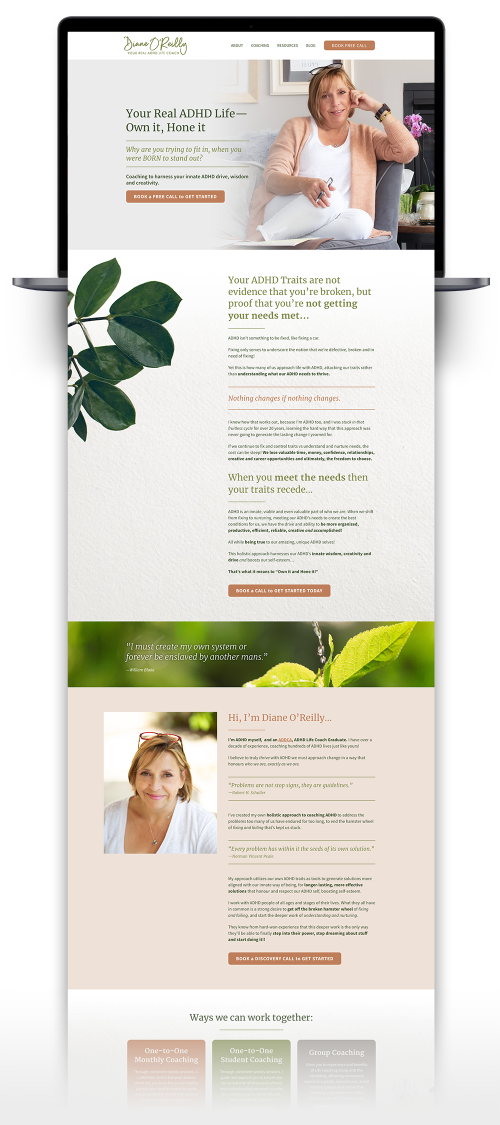Diane O'Reilly Coach Website