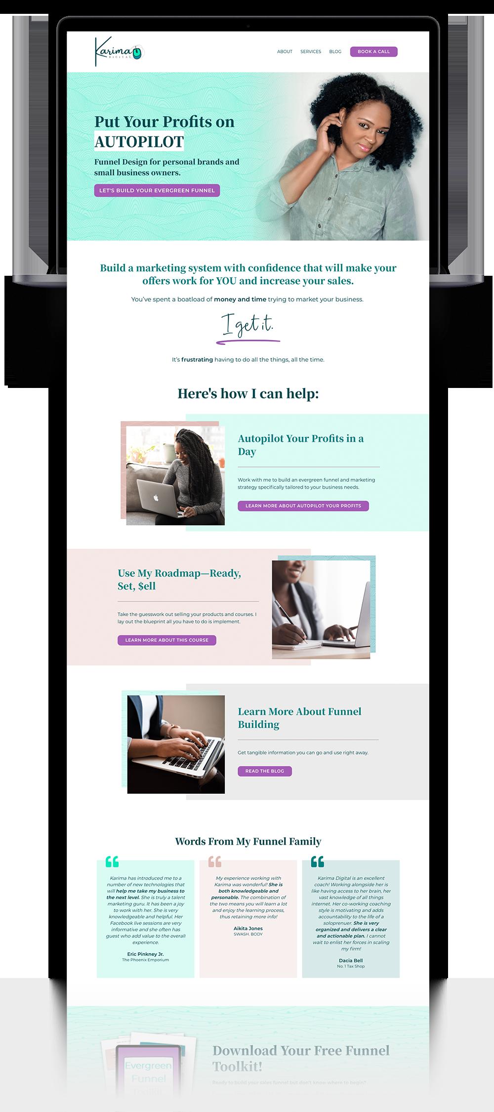 Karima Digital Website