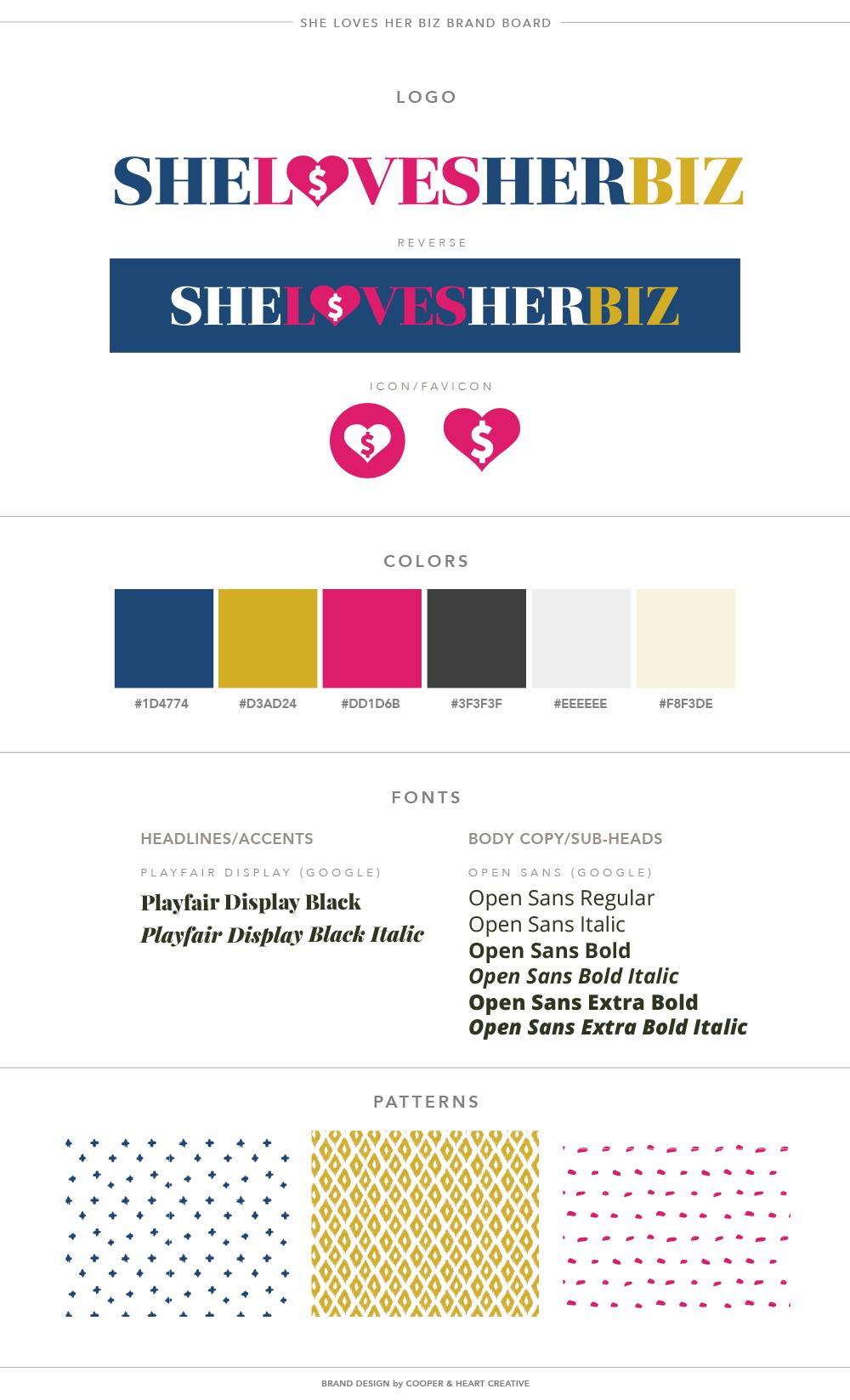 She Loves Her Biz Brand Board