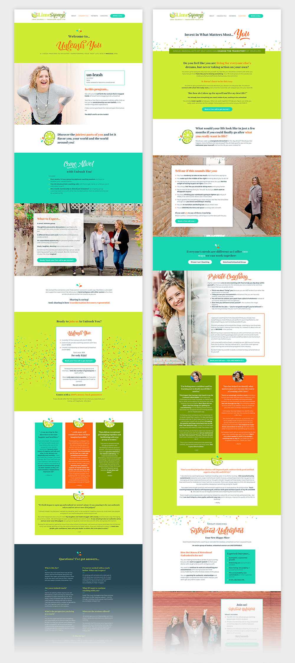 Lime Squeeze Sales Pages
